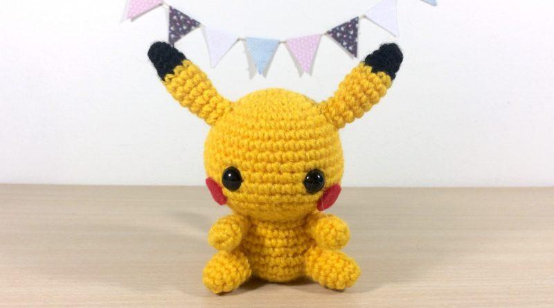 Pokemon Amigurumi Deutsch : Patron Amigurumi Crochet : Bebe Pikachu Made by Amy