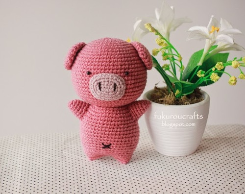 Patron Amigurumi Crochet : Cochon cochaunouxe Made by Amy