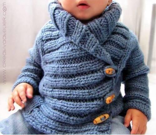 30e2534590df Pour faire la taille 12-24mois il vous faudra des aiguilles numéro 5 et 3  pelotes de 100gr d une laine se tricotant en aiguille 6 (pour que le point  soit ...