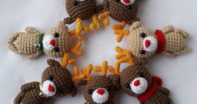 Patron amigurumi crochet petits nounours made by amy - Sujets de noel au crochet gratuit ...