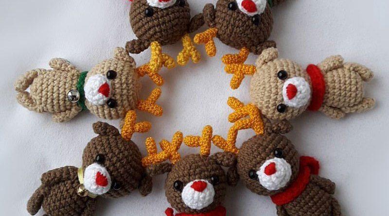 patron amigurumi crochet op ration noel n 4 petit renne made by amy. Black Bedroom Furniture Sets. Home Design Ideas