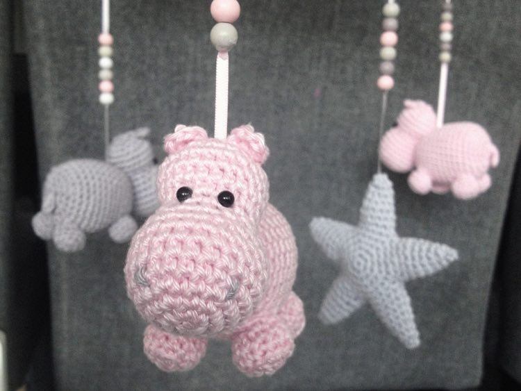 Patron Amigurumi Crochet Le Mobile à Hippopotame Made By Amy