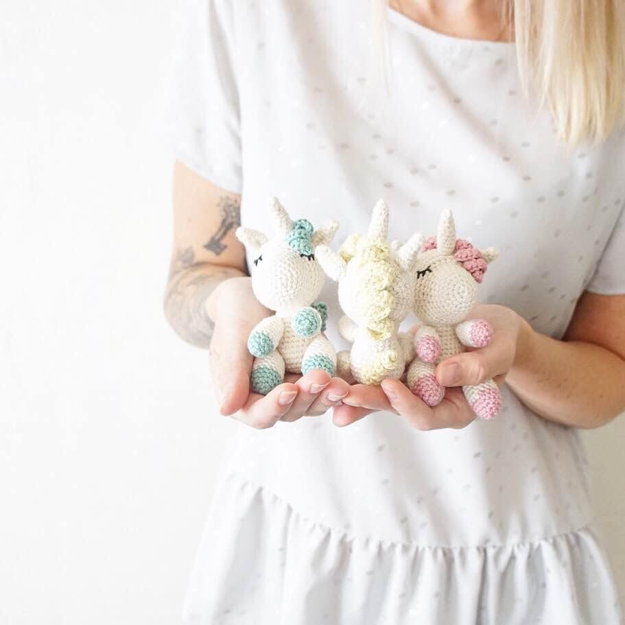 Patron Amigurumi Crochet Petites Licornes Endormies Made