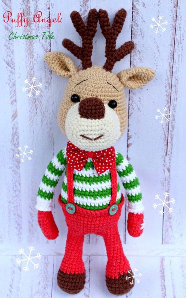Rudi le renne Amigurumi handmade christmas doux crochet Jouet